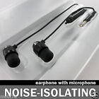 BLACK METAL STEREO HANDSFREE HEADSET + MIC FOR HTC EVO VIEW 4G EARBUD EARPHONE
