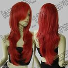 28 in. Long 70cm Heat Resistant Big Wavy Copper Red Cosplay Wig Free Shipping 04