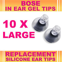 10x Silicone Large Ear Gel Tips for Bose Triport Earphone Earbud (In-Ear Canal)