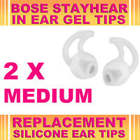2x Silicone Replacement Medium Ear Gel Tips for Bose StayHear Earphone Headphone