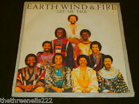 """VINYL 7"""" SINGLE - EARTH WIND AND FIRE - LET ME TALK - 8982"""
