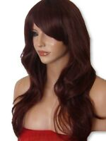 Red Brown Wig Fashion synthetic long curly FULL WOMEN LADIES NATURAL WIG P-18