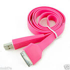 Pink Flat USB Data Sync Charge Cable Apple iPod 3G 3GS iPhone 4 4S