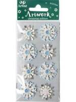 Artoz Blue Snowflake Craft Embellishment Stickers Card Making Scrapbooking