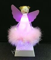 LED BATTERY OPERATED PINK ANGEL FAIRY CHRISTMAS XMAS LIGHT UP ORNAMENT DOLL 2120