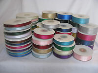 Double sided satin ribbon 50m x 3mm 25m x 10mm 16mm & 25mm lots of colours