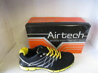 MENS AIRTEC TRAINERS STYLE NAME ORBIT COLOUR BLACK/YELLOW SYNTHETIC/TEXTILE
