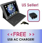Wireless Bluetooth Keyboard Folio Leather Case for iPad 3/2/1 *FREE A/C CHARGER*