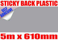 5m x 610mm Silver Metallic Jac Avery Sign Vinyl Sticky Back Plastic Weeding Tool