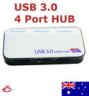 USB 3.0 / 2.0 4-Port HUB Super Speed 5Gbps with Power Adapter and USB 3.0 Cable