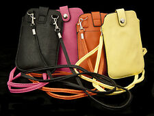 Soft Cell Phone Case with Shoulder Strap for iPhone 6, 5, 4, Galaxy S3, S2, S