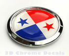 Panama Decal Flag Car Chrome Emblem Bumper Sticker 3D