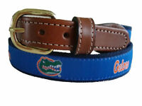University of Florida Gators Mens Leather Canvas Embroidered Belt pick your size