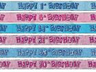 BLUE GLITZ 13-60 AGED BIRTHDAY 12FT FOIL BANNER PARTY DECORATION!