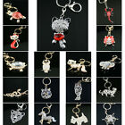 ANIMAL DESIGN SILVER SHINY BLING CRYSTAL DIAMANTE KEY CHAIN KEYRING 1ST CLASS