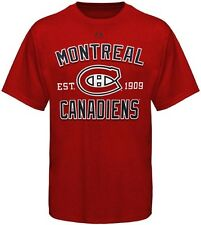 Montreal Canadiens NHL Licensed Majestic Red Arc T Shirt Big Sizes