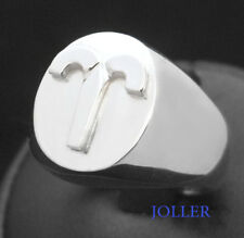 ZODIAC SIGNET RING SILVER PERSONALIZED 3D MATTE OR POLISHED HANDMADE BY JOLLER