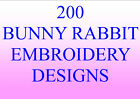200 BUNNY RABBIT EMBROIDERY DESIGNS PES HUS JEF EXTREMELY CUTE DESIGNS