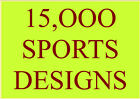 15,000 SPORTS EMBROIDERY DESIGNS PES HUS JEF MUST HAVE ITEM FANTASTIC!!