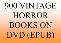 900 CLASSIC VINTAGE HORROR BOOKS IN EPUB FORMAT FOR E-READER OR PC GREAT ITEM !!