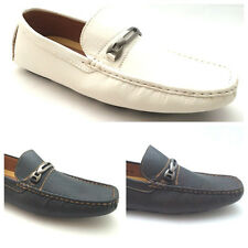 NEW Mens Loafers Italian Style Office Smart Shoes Black White Brown Size 6 - 11