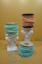 5 Yards Of 4Mm Faux Pearl Plastic On A String (Choose From 3 Colors)