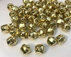 50 x SMALL BELLS,GOLD COLOUR, IRON ,approx.10MM DIAMETER, GREAT FOR CRAFT MAKING