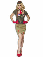 Ladies Womens Fancy Dress Fetish Army Babe Full Costume Girl Outfit Sexy Cute
