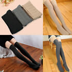 3 Colors Women Knit Over Knee Thigh Stockings High Cotton Socks Pantyhose Tights