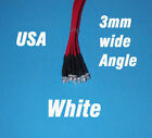 10 x LED - 3mm PRE WIRED 12 VOLT WIDE VIEW ANGLE WHITE