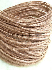 10M-500M METRES NATURAL BROWN JUTE SHABBY STYLE RUSTIC STRING TWINE HANK CRAFTS