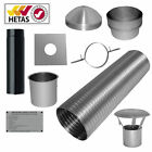 "7m 6"" Flexible Multifuel Flue Liner Pack/kit For Stove Woodburner Logburner"