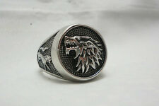 Game of Thrones House Stark Ring Direwolf Wolf Ring
