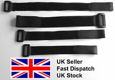 Black Hook and Loop straps strap strapping Cable Ties with buckle