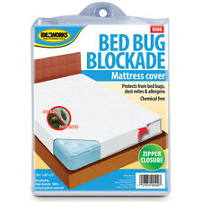 Bed Bug Mattress Cover Bockade Zipper Dust Mites Allergens Breathable Healthy