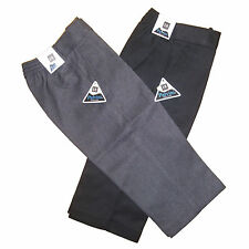 Boys Kid Children Sturdy Generous Fit Wide Teflon Stocky School Uniform Trousers