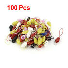 100 Pieces Assorted Color Nylon Strap Lanyard 8cm for MP3 MP4 Camera Smart Phone