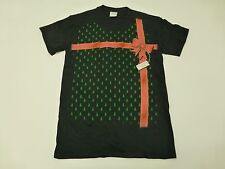 Mens or Womens Size Small Black Ugly Christmas Party Unwrap Present T Shirt New