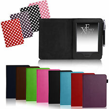 Per Amazon Kindle Touch 7th Gen 2014-Pelle Case Cover Wallet Auto Sleep / Wake