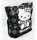 NWT Hello Kitty Large Diaper Tote Bag Black Plaid Sanrio Licensed Newest Style