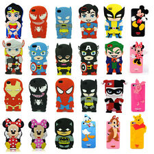 New 3D Cartoon Superhero Soft Silicone Rubber Case Cover For iPhone 4G 5C 5S 6 P