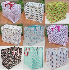 Large Vintage Floral Laundry Shopping Tote Bag Storage Reusable Bags Spring