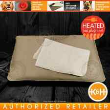 K&H Lectro Kennel Outdoor Indoor Heated Dog Cat Pet Bed Pad Mat Warmer S M L