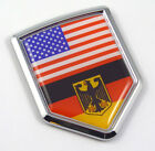 USA Germany American German Flag Car Chrome Emblem Decal Sticker with adhesive