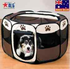 8 Sided Portable Dog Pet Cat Play Pen Closure Outdoor Soft Cage Kennel Tent M/L