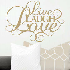 Live Laugh Love family Wall Art Vinyl Sticker Modern Quote Home Decoration
