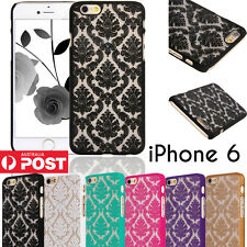 Vintage Lace Damask Clear Matte Case Cover for iPhone 4 4S 5 5S 6 & 6 PLUS