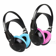 Children Kids Wireless Infrared IR Headphone Headset For Car Headrest DVD Player