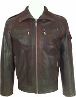 UNICORN LONDON Mens Brown 100% Real Leather Jacket 'All Sizes #H6