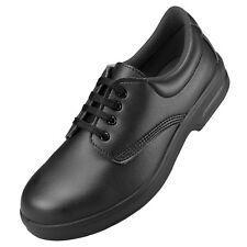 Mens Comfort Grip Black Microfiber Comfortable Lace Up Safety Shoes Size 36-48